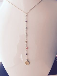 Yoga Necklace Chakra Necklace Healing Necklace 7 by BabyLovesBlue