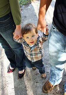 Great angle, and a great way to get a shot of a kid who wants to stay with their parents.