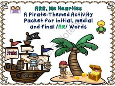 Set Sail For A Fun /AR/ Articulation Activity Packet from Shanda from Shanda on TeachersNotebook.com (38 pages)  - Hello Buccaneers! We are so happy to see that you have jumped aboard our Twin Speech, Language & Literacy LLC ship today to eye up our latest product. This one will keep your postvocalic /R/ articulation students busy in a fun way as they work on thei