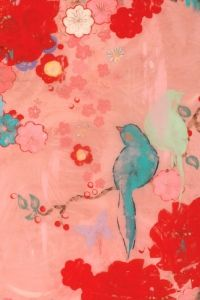 Artwork by Kathe Fraga - LOVE the chinoiserie bird and floral depiction!