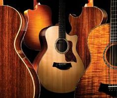 Taylor guitars - some of the best acoustics in the world!   Adore my Taylor, it plays like butter.