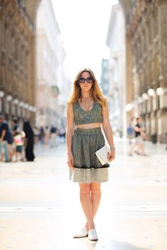 Denim two piece in Milan. (via On the Street…..Galleria Vittorio Emanuele II, #Milan « The Sartorialist)