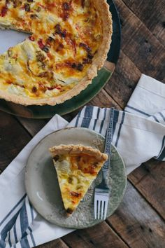 This Leek & Artichoke Quiche with Red Peppers is my favorite brunch recipe ever. It's also amazing for dinner! With extra pie crust for all you crust-lovers out there!