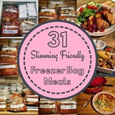 Slimming 31 Slimming World Friendly Freezer Meals in One Batch. Low syn batch cook and batch prep. - 31 Slimming World Friendly Freezer Meals in One Batch. Low syn batch cook and batch prep. Batch Cooking Freezer, Freezer Bag Meals, Sw Meals, Bulk Cooking, No Cook Meals, Freezable Meals, Budget Meals, Cooking Recipes, Slimming World Meal Prep
