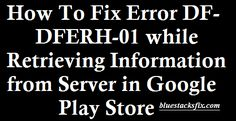 Here you will get the best guide on how to fix DF-DFERH-01 while Retrieving…