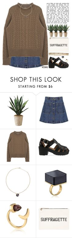 """""""if only my bank balance was as high as my daily calorie intake"""" by rupp ❤ liked on Polyvore featuring Jeffrey Campbell and Crate and Barrel"""
