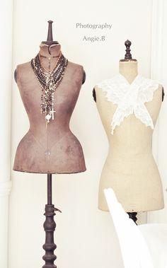 vintage dress forms...love love love