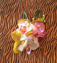 Gorgeous Tiki Pinup Hair Flower with Yellow by BombshellKouture, $16.50