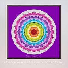 X-stitch pattern mandala Chakra - digital crossstitch embroidery pattern pdf - 192 x 192 crossstitches - 35 x 35 cm - 14 x 14 inches  This digital