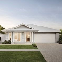 Die Hamptons, Hamptons Style Homes, Australian House Plans, Australian Homes, Facade Design, Exterior Design, House Design, Design Design, House Plans Australia