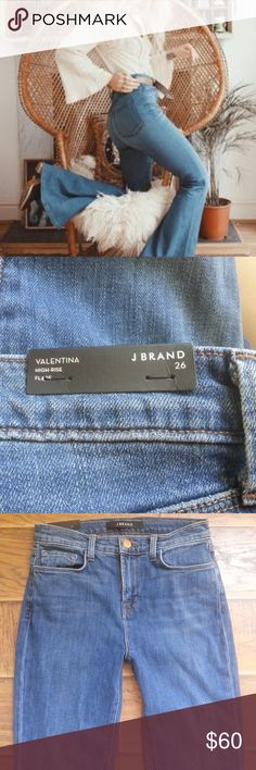HP! J Brand Valentina high-waisted jeans 26 NWT J Brand Valentina High-Rise Flare in 'SAIL'  Size: 26  Condition: New with tags!  Color: Blue denim, 'Sail' wash. J Brand Jeans