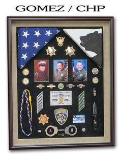 "Gomez - CHP See our webite section ""Police Shadowboxes"" for 100's more examples!"