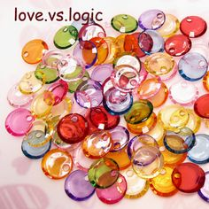 100 Disc Drop Faceted Acrylic Beads Mix Icy Colors by lovevslogic, $3.00