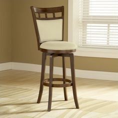"""Lowest price online on all Hillsdale Jefferson 24"""" Swivel Counter Stool in Brown Cherry - 4975-826"""