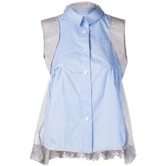 SACAI sleeveless shirt blouse