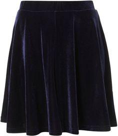 Navy Velvet  Skirt <3