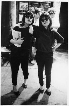 Sylvia Morales (who would go on to marry Lou Reed) and downtown scenester/Mudd Club co-founder Anya Phillips strike a pose (1977). | 17 Awesome Photos That Captured CBGB's Iconic 1970s Punk Scene