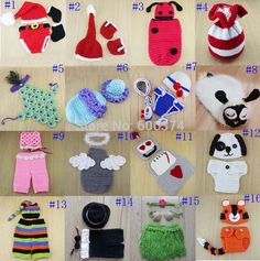 Find More Hats & Caps Information about New Puppy Tiger Photography Props Sheep Angel Newborn Baby Costume Outfit Peacock Navy Handmade Crochet Beanie Cap,High Quality Hats & Caps from Song's store on Aliexpress.com