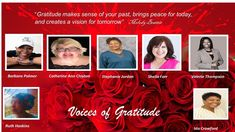 Coming to Just Minding My Business Podcasts this Thursday at 6:00 PM is a Special Show, Voices of Gratitude. Make Sense, Gratitude, The Fosters, Thursday, The Voice, Competition, Bring It On, Business, Grateful Heart