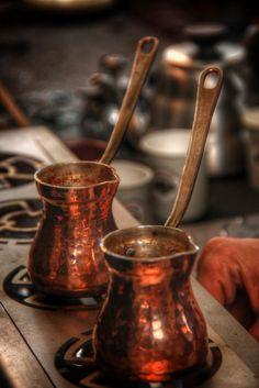 Turkish coffee pots ❤️☕️ / photo by Nagihan YİĞİT