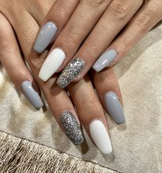 Nail art Christmas - the festive spirit on the nails. Over 70 creative ideas and tutorials - My Nails Simple Acrylic Nails, Best Acrylic Nails, Summer Acrylic Nails, Acrylic Nail Designs, Summer Nails, Simple Nails, Nagellack Design, Nagellack Trends, Long Nails