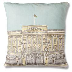 $68.87 MR WINGATE Buckingham Palace illustration cushion