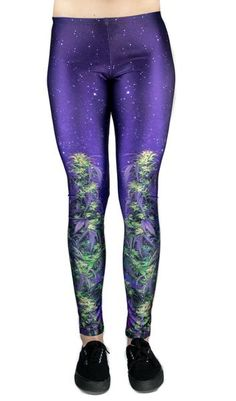 1f272c00193907 Miss Mary Jane Co. Day Canna Leggings! cannabis plant leggings. yoga pants  with