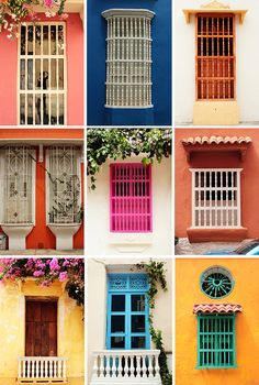 """""""Janelas, Cartagena, Colombia.""""             NOTE: THERE ARE NO IMAGES IN THE """"VISIT"""" SECTION OF THIS PIN.         (Pinned both to Travel - *Doors & Windows... & to Travel - Cartagena & Colombia...."""