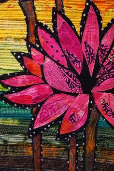 detail, Lotus  quilt by Suzanne Gummow. Quilt Symposium Manawatu, 2015 (New Zealand) | photo by Martha Wolfe