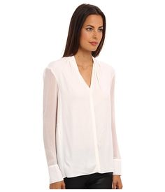 HELMUT LANG Morse Drape Shirt Optic White - Zappos.com Free Shipping BOTH Ways