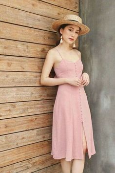 35 Summer Fashion 2019 For College - Fashion New Trends Dress Outfits, Casual Dresses, Dress Up, Summer Dresses, Pink Dress, College Fashion, College Outfits, Modest Fashion, Fashion Dresses