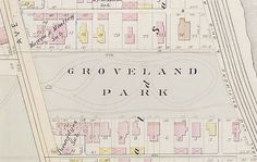 groveland park 1886 robinsons map of chicago