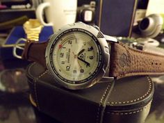 Timex Men's Expedition Easy Set Alarm Watch w/ Timex Genuine Brown Leather Band #Timex #Sport
