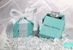 Tiffany co inspired personalized favor boxesbags 8 diy 1580 custom print tiffany blue favor box breakfast at tiffanys wedding baby bridal shower negle Gallery