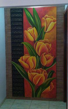 Acrilic Paintings, Oil Pastel Paintings, Oil Pastel Art, Colorful Paintings, Nature Paintings, Beautiful Paintings, Oil Pastel Drawings Easy, Pencil Drawings Of Flowers, Flower Mural