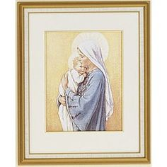 our lady of the millennium framed print 16x20 the catholic company catholic art framed. Black Bedroom Furniture Sets. Home Design Ideas