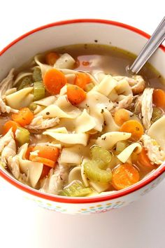 Quick Chicken Noodle Soupcountryliving