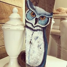 Working hard to get orders out. Thankful for everyone's patience with me. #owl #barnwood #reclaimedwood #rusticdecor #woodpainting