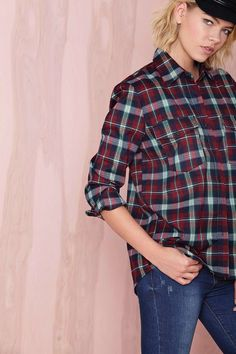The quintessential plaid top for Fall.
