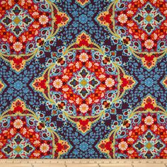 Joel Dewberry Notting Hill Sateen Kaleidoscope Midnight Item Number: 0274014 Our Price: $12.98 per YD