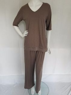 cool EILEEN FISHER SLEEPWEAR by GARNET HILL Taupe Organic Pima Cotton Pajama Set MED Check more at https://aeoffers.com/product/clothing-and-shoes/eileen-fisher-sleepwear-by-garnet-hill-taupe-organic-pima-cotton-pajama-set-med/