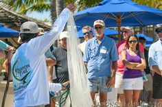 Come take part in a casting net demonstration by Captain George Campbell of Snapshot Charters... get #HookedAtHawksCay Sept. 5-7th!