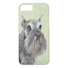 #Schnauzer iPhone 7 Case - #miniature #schnauzer #puppy #schnauzers #dog #dogs #pet #pets #cute #miniatureschnauzer