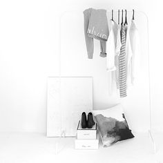 NZ-based studio Design Ministry have launched their latest collection of duvets, pillowcases and cushions. Capsule Wardrobe, Wardrobe Rack, Chic Minimalista, Monochrome Interior, White Aesthetic, Minimal Fashion, Straight Leg Pants, Wardrobes, Shirt Blouses