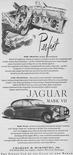 Jaguar Mark VII Ad 1952 by hmdavid, via Flickr
