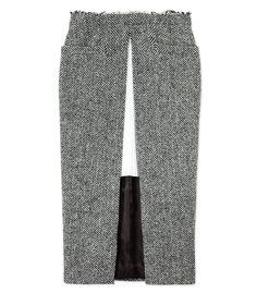 Sacai Twill Paneled Herringbone Skirt
