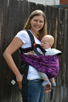 Sugar and Dots - Turning a Bjorn-style carrier into an ergonomic-style carrier with the use of a scarf, ring sling, or fabric.