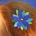 Spring Flower Craft Foam Hair Clips