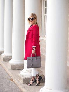 Red Trench ~ Suburban Faux-Pas