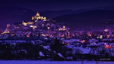 Snowy Trencin by Sona Buchelova on European Road Trip, Spain And Portugal, Great Britain, Empire State Building, Belgium, Paris Skyline, Italy, Places, Nature